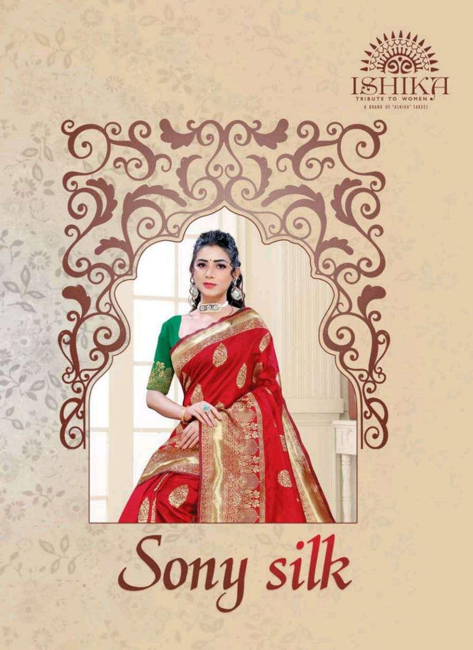 ishika saree sony silk casual wear ladies saree wholesaler in surat