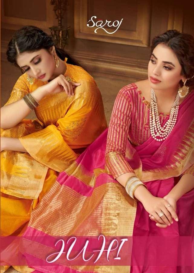 juhi by saroj cotton silk summer wear designer sarees