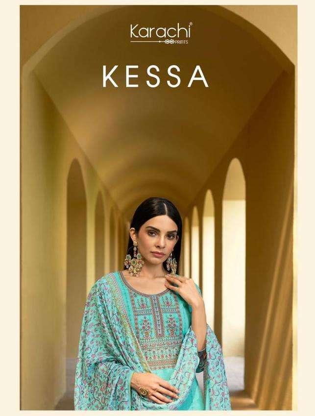 karachi prints kessa lawn with kashmiri embroidery salwar kameez catalog wholesaler