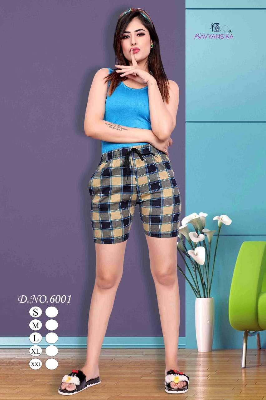 kavyansika printee shorts 6001 hosiery cotton summer wear girls short collection