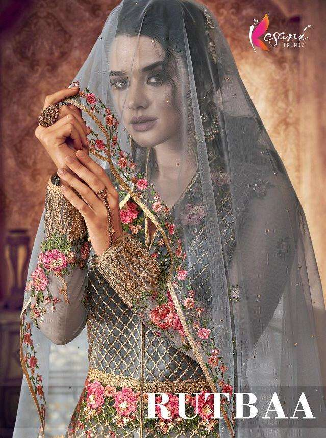 kesari trendz rutbaa butterfly net embroidery kali style long suits collection