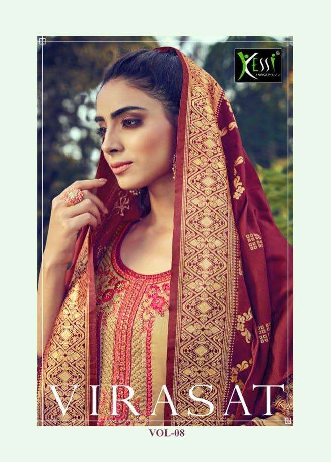kessi virasat vol 8 jam silk khatli work dress materials wholesaler
