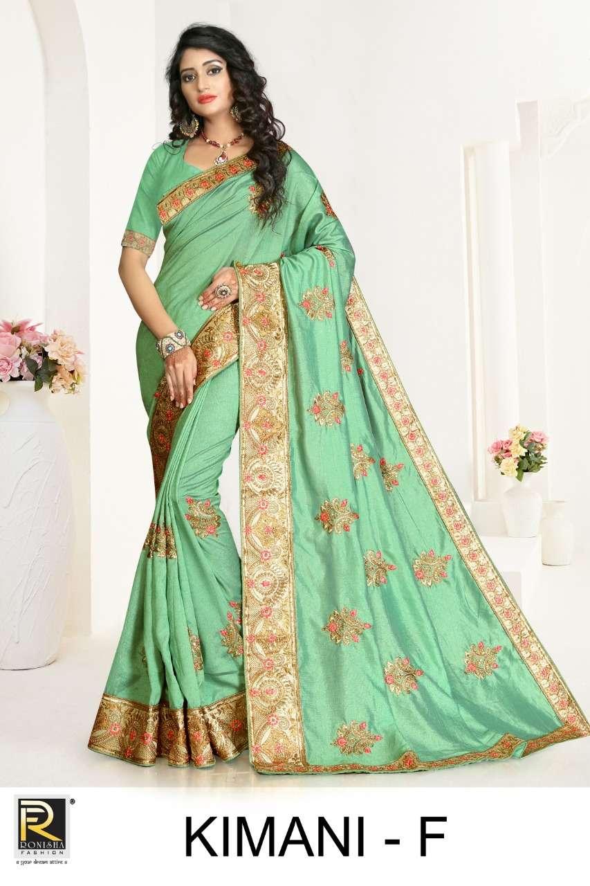 Kimani by ranjna saree embroidery warked heavy diamond work saree Collection