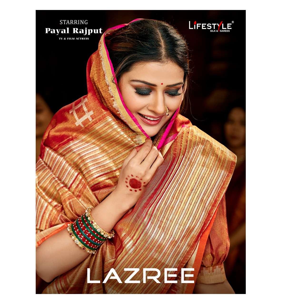 lifestyle lazree cotton silk ethnic wear fancy sarees