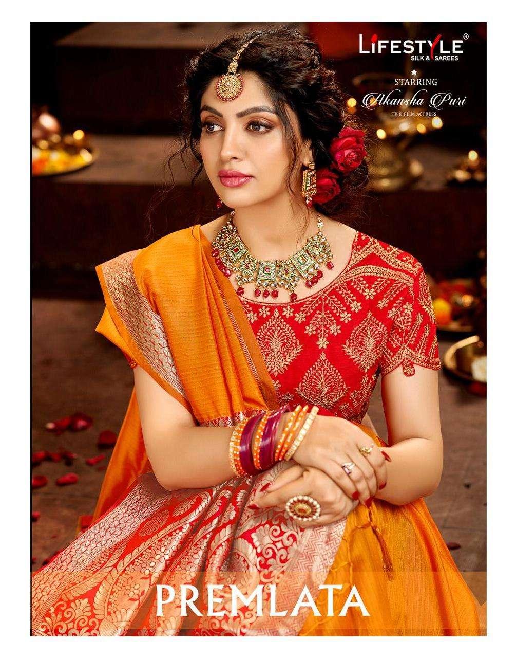 lifestyle premlata silk saree with rich pallu concept