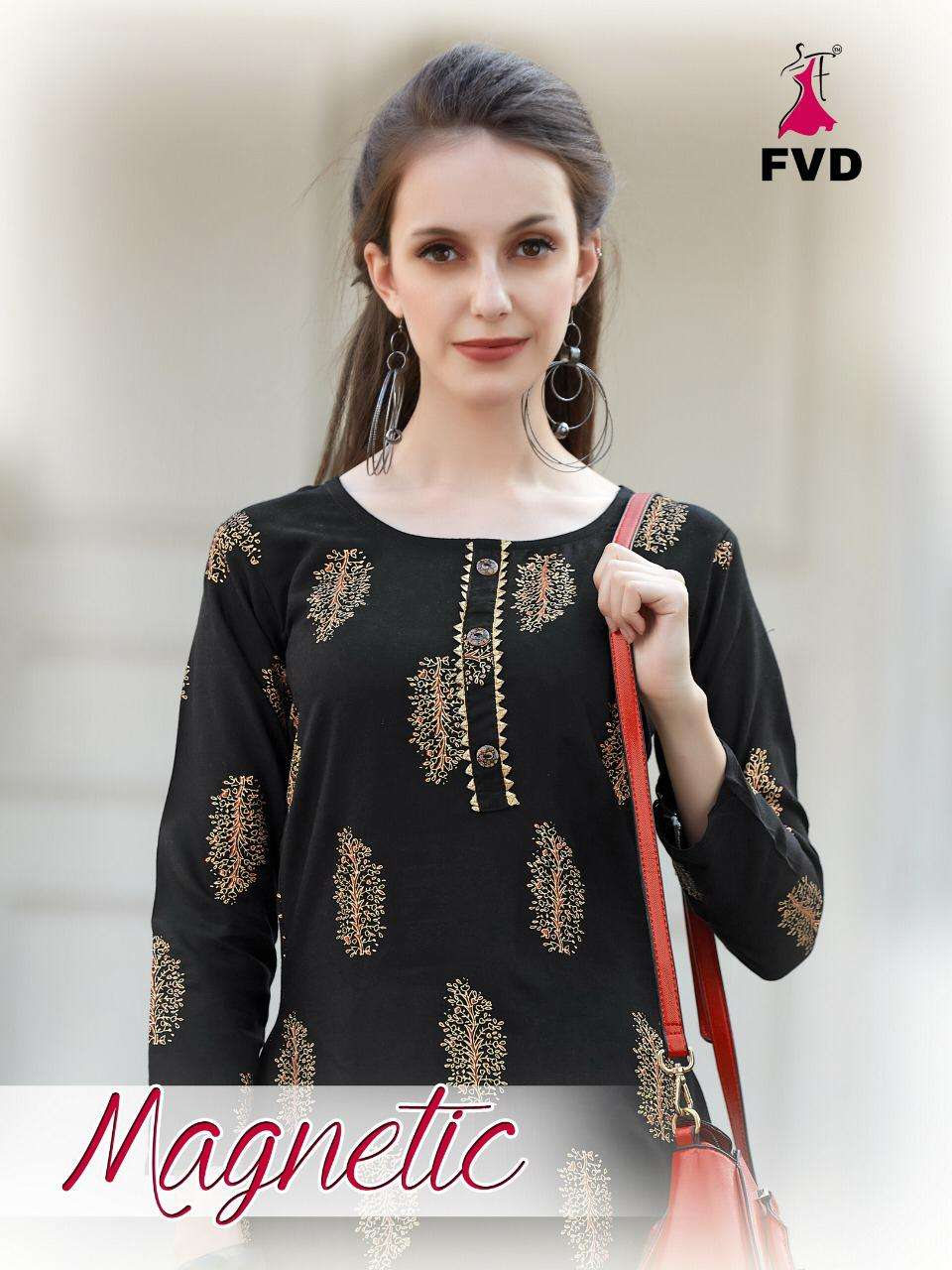 magnetic by fvd rayon long top with sharara collection