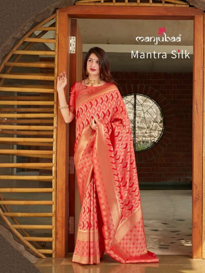 manjubaa mantra silk 4801-4806 series traditional wear silk sarees