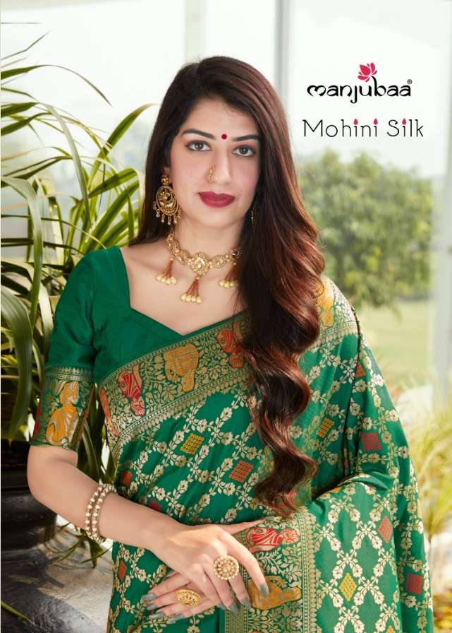 manjubaa mohini silk 4701-4706 series festival wear silk saree