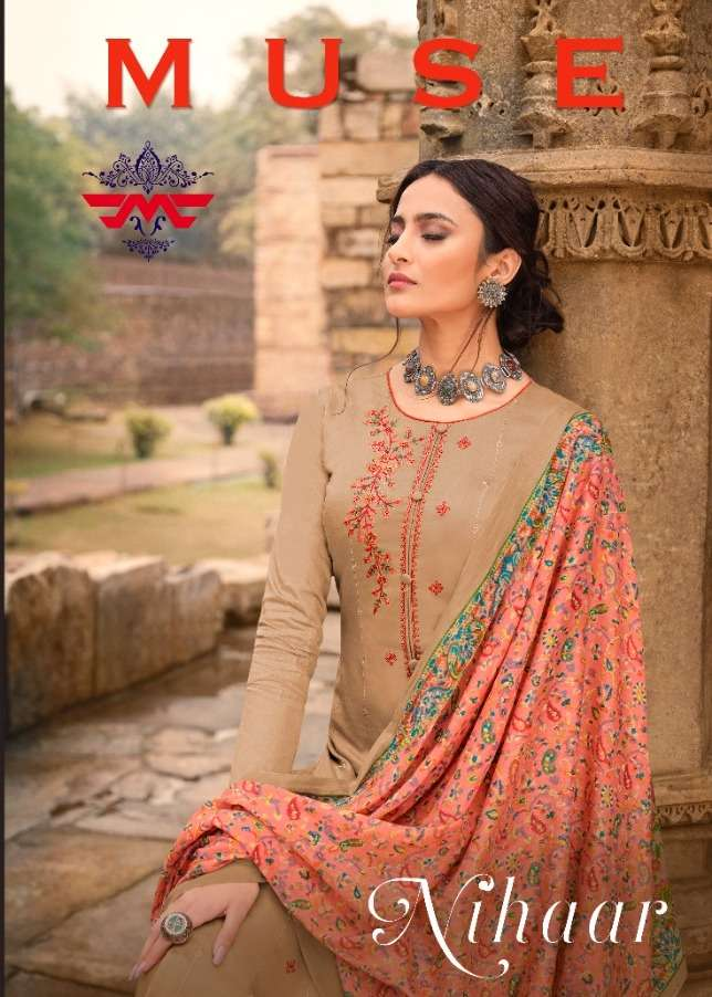 nihaar by hansa muse pure jam embroidery dresses supplier