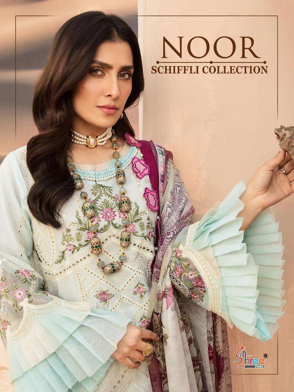 noor schiffli collection by shree fabs lawn embroidery pakistani suits