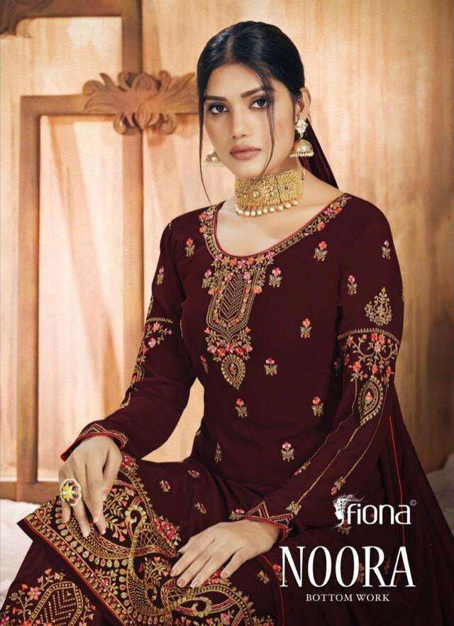 noora by fiona georgette designer fancy dresses collection
