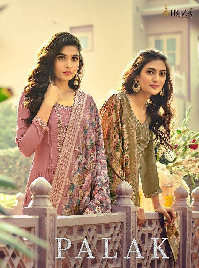 palak by ibiza muslin silk embroidery exclusive suits wholesaler