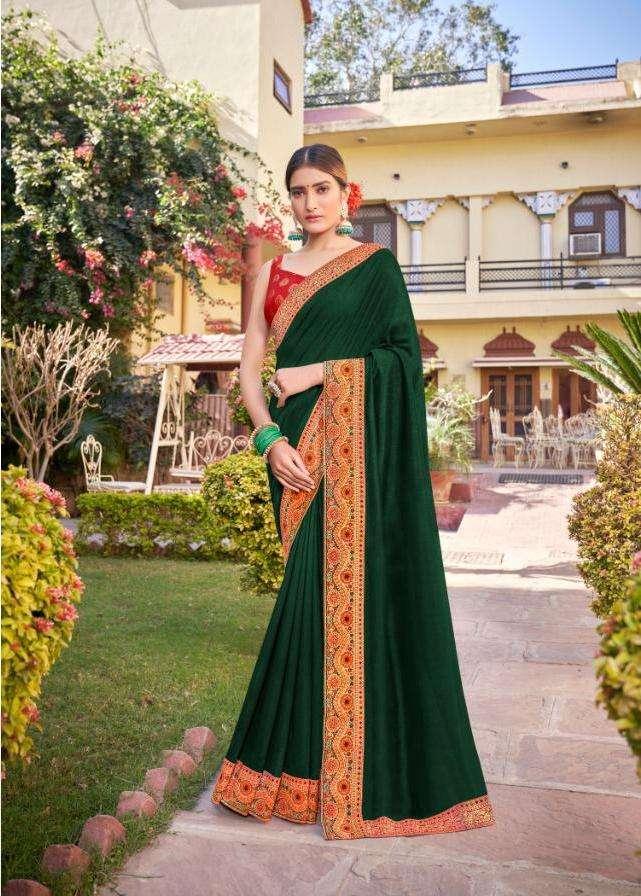 parampara by right women designer vichitra silk fancy saree wholesaler