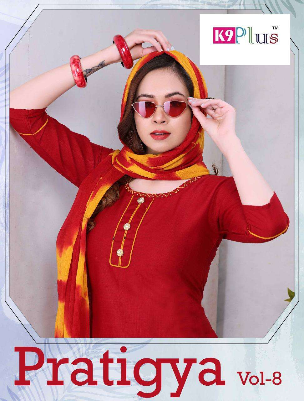 pratigya vol.8 by k9plus heavy rayon readymade suit Cataolog Collection Wholesaler Best Rate In Ahmedabad Surat Chennai India Uk Usa Malaysia Singapore Canada Australia