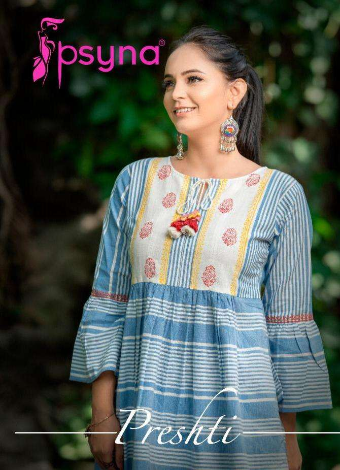 psyna preshti cotton short top summer wear collection