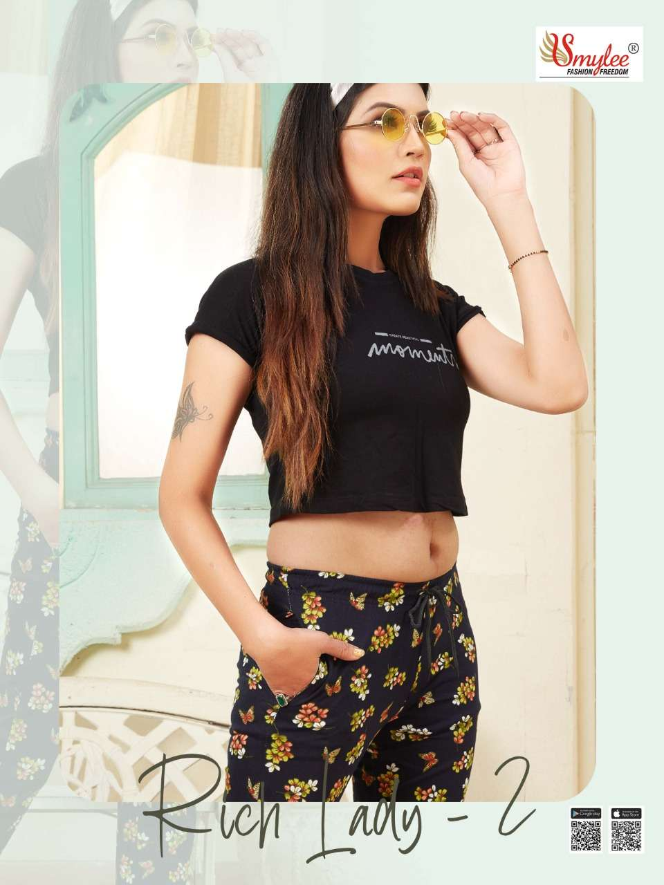 rich lady vol 2 by rung sinker hosiery printed bottom pant collection