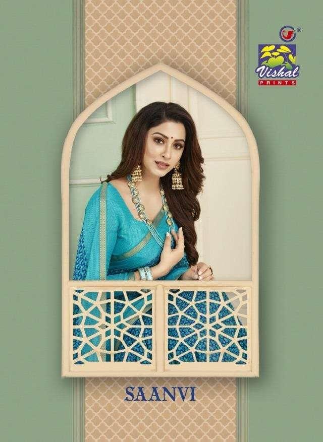 saanvi by vishal fashion designer brasso saree collection