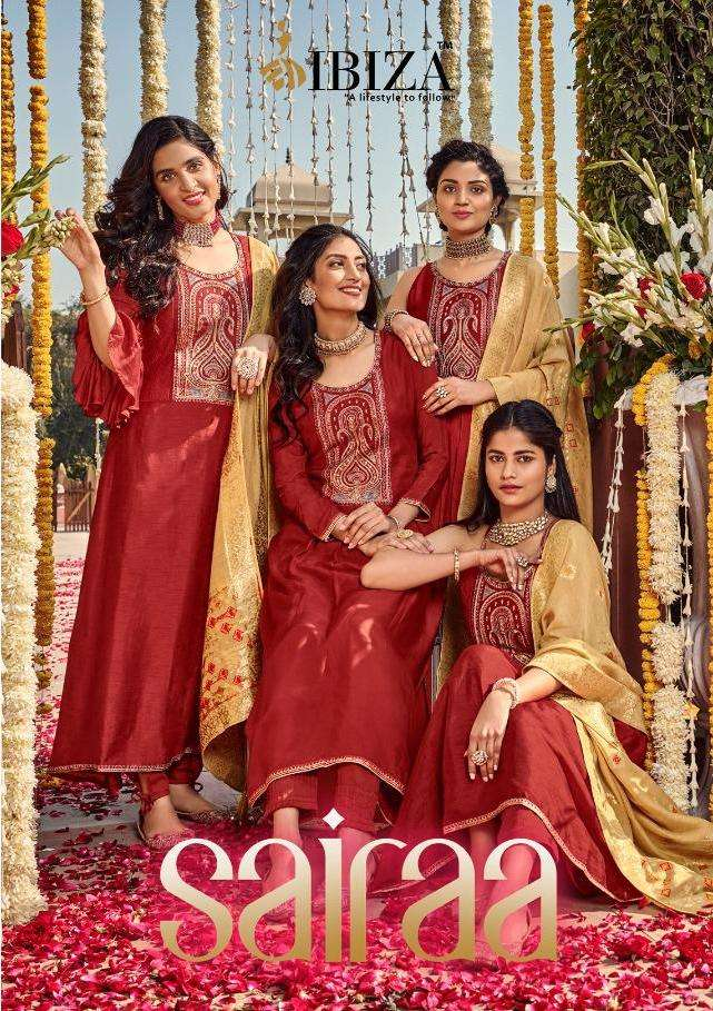 sairaa by ibiza pure silk embroidery classy look salwar kameez