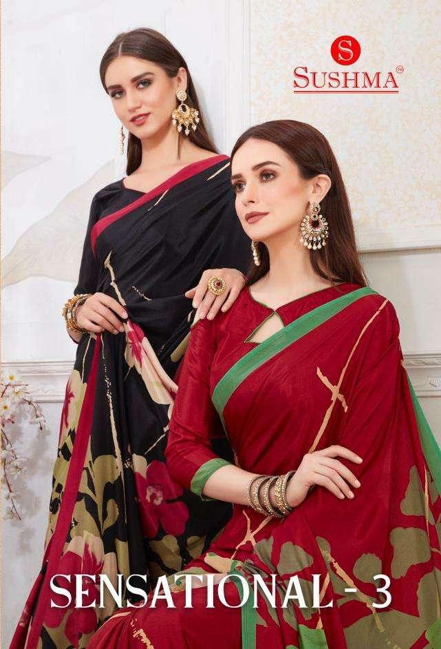 sensational vol 3 by sushma crape printed casual wear saree