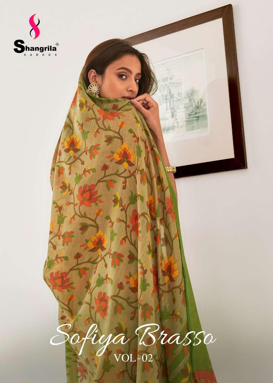 shangrila saree wholesale supplier sofiya brasso vol 2 elegant sari collection