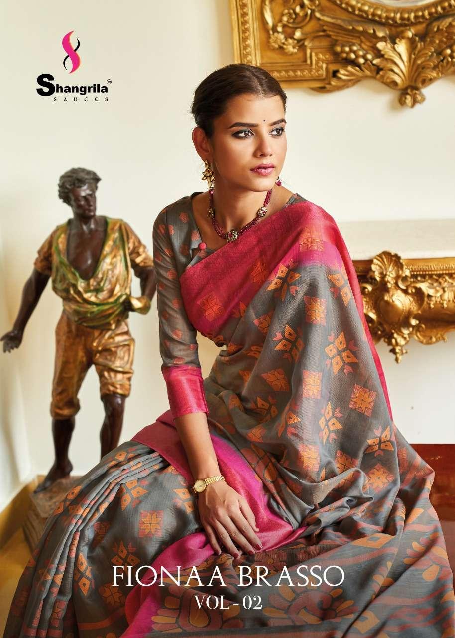 shangrila saree wholesaler in surat fionaa brasso vol 2 excellent color range