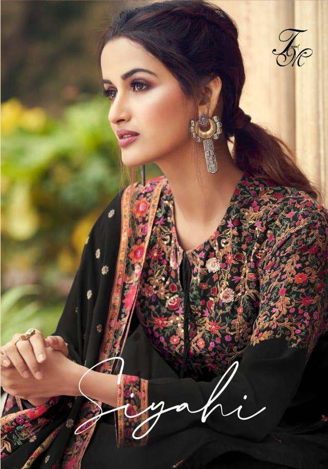 t&m present siyahi pure silk exclusive indian clothing wear