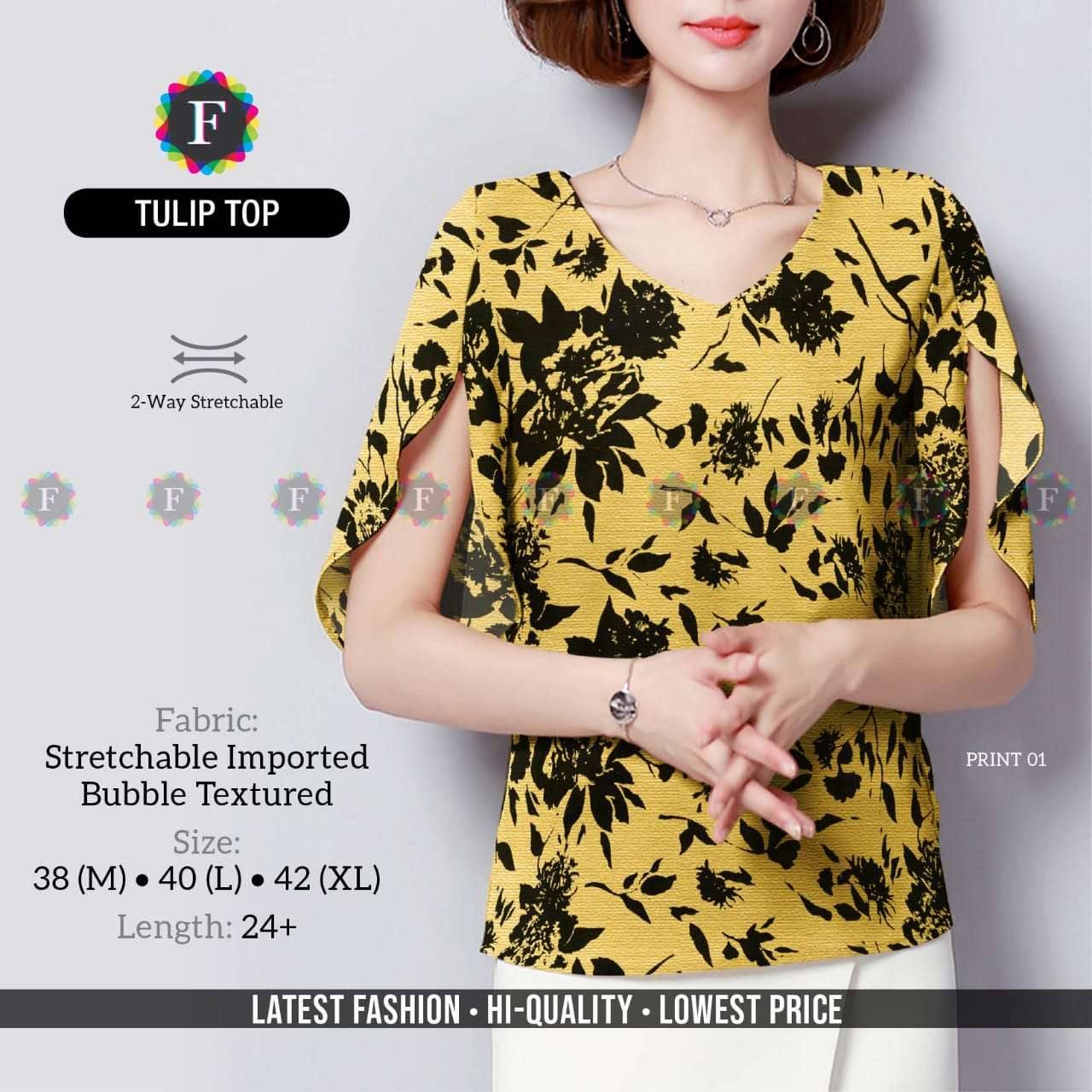 tulip top imported girl western tops collection wholesaler