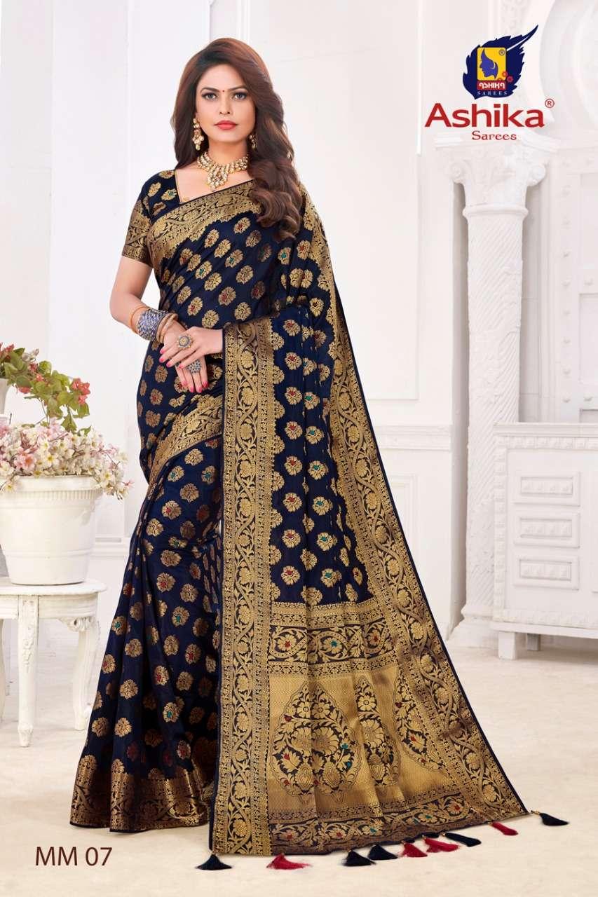 ashika sarees mangalam meena soft silk saree with low prices online
