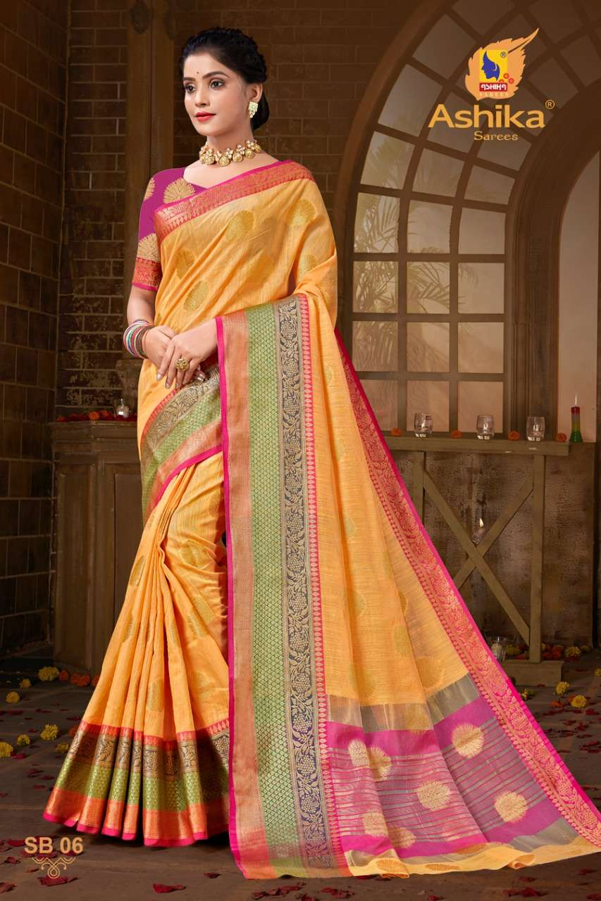 ashika sarees summer beauty cotton silk saris wholesale supplier