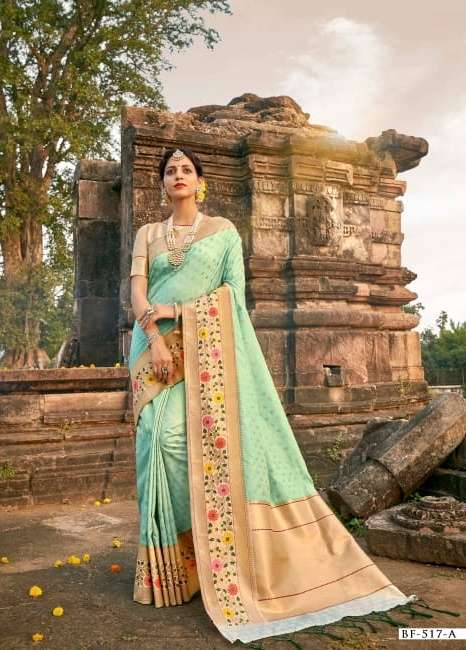 b fine present nakkashi banarasi silk exclusive fancy saree