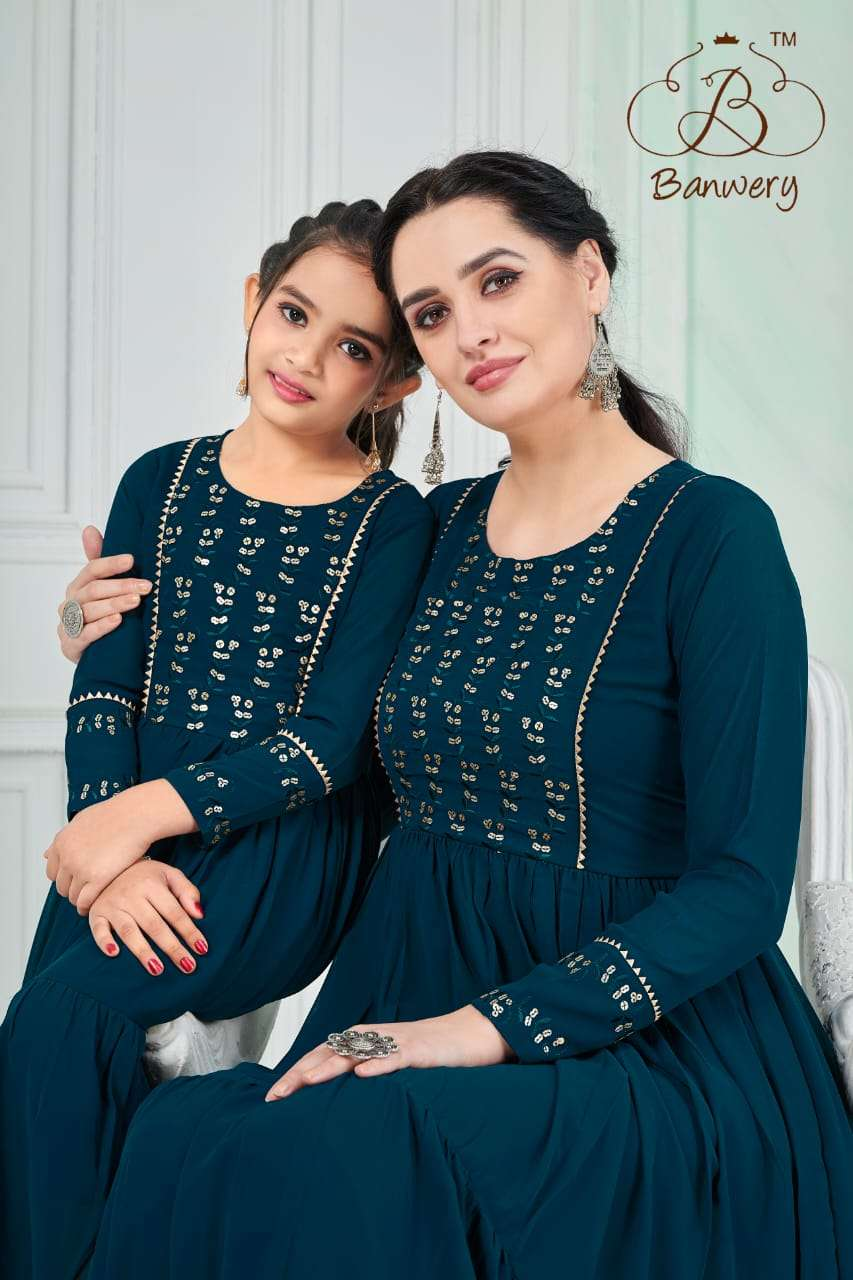banwery fashion me & mom mother daughter gown and frock concept collection of 2021