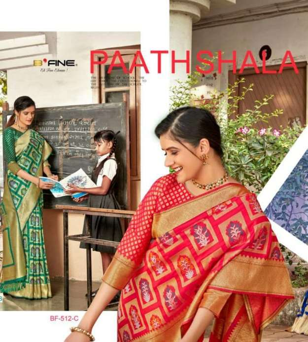 bfine paathshala banarasi silk indian saree with low cost online