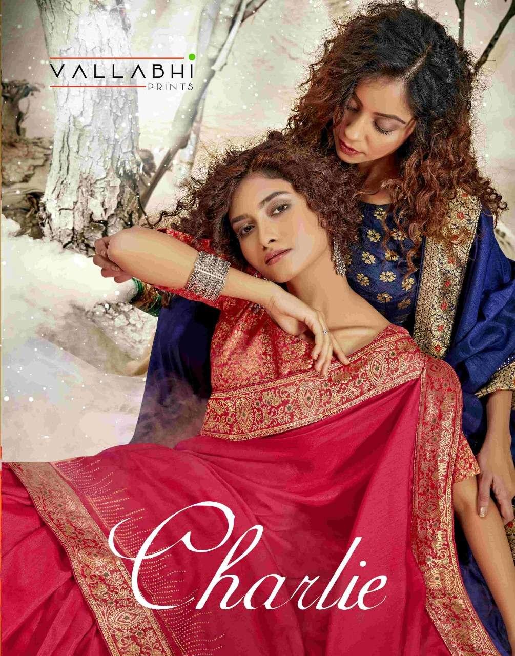 charlie by vallabhi designer vichitra silk ethnic wear fancy saree