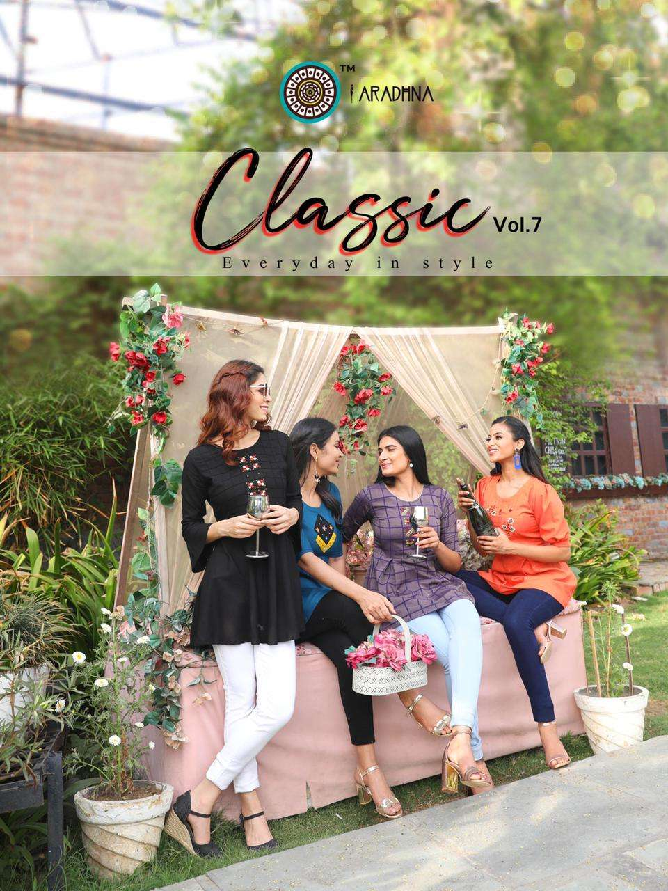 classic vol 7 by aradhna rayon cotton short top supplier