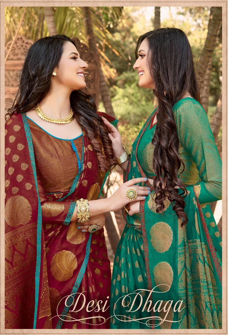 Desi Dhaga By Sangam Prints Handloom Silk Latest Design Print Saree At Best Rate
