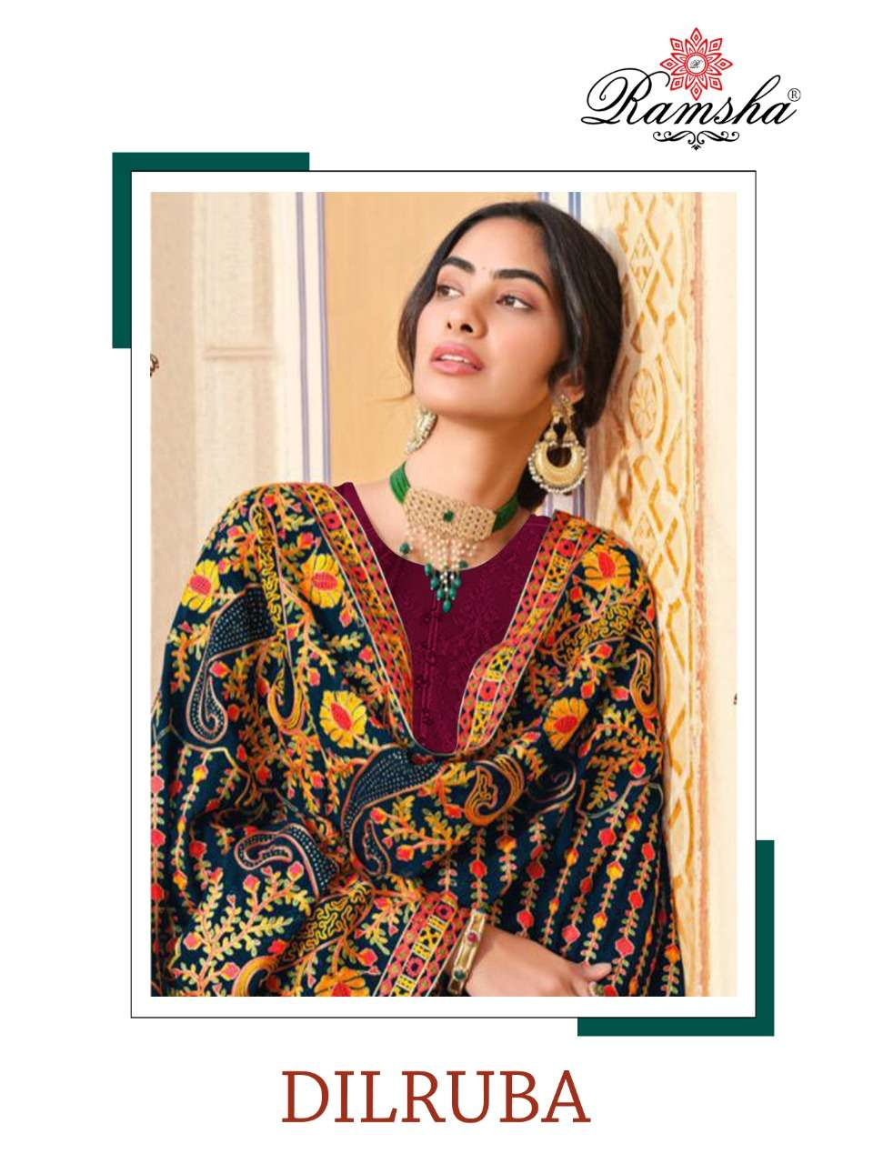 dilruba by ramsha georgette embroidery pakistani suits