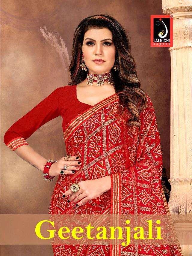 geetanjali by jalnidhi georgette bandhani traditional wear fancy saree