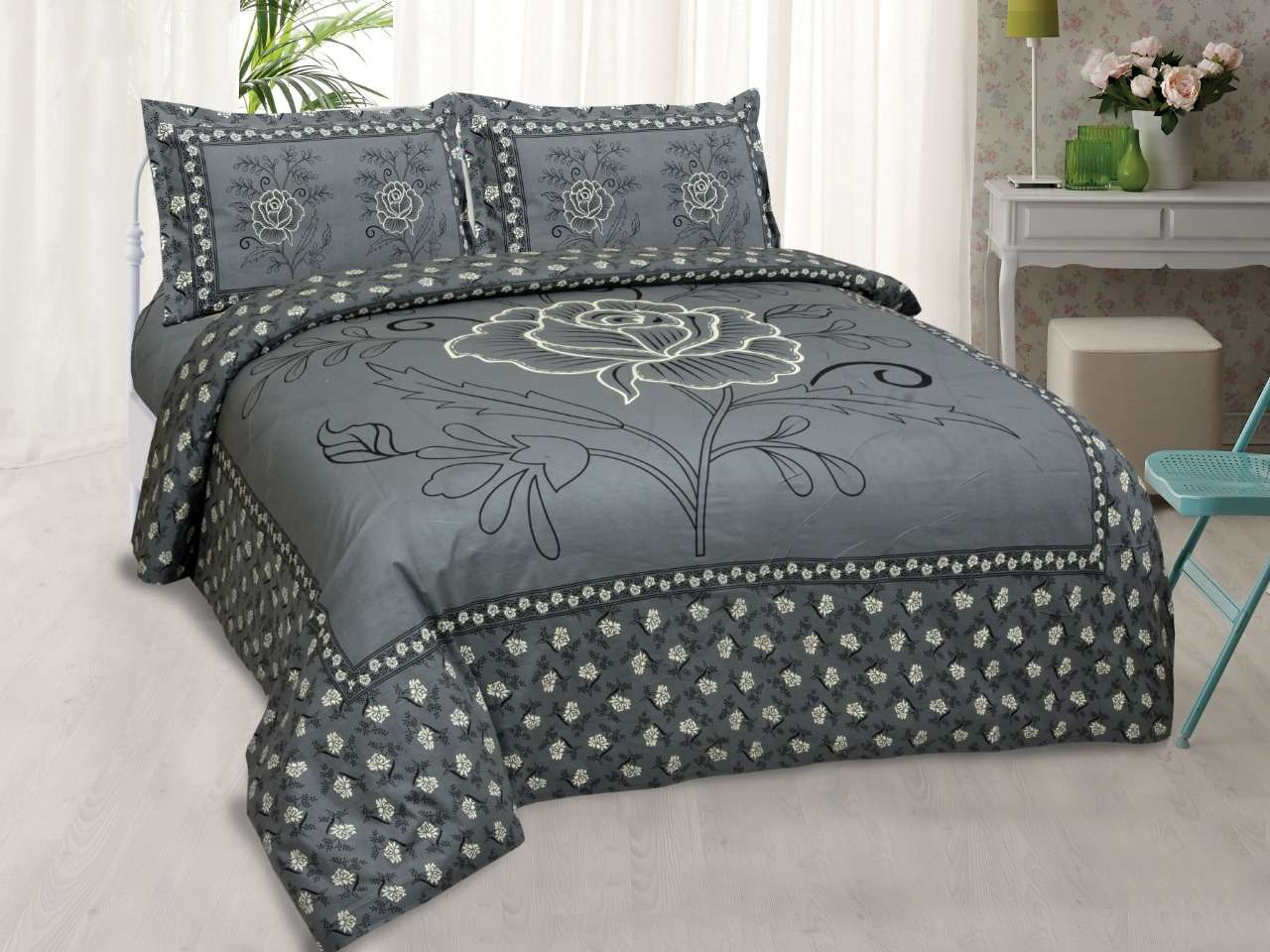 inaaya cotton king bed sheets with 2 matching pillow cover with lowest price online at krishna creation
