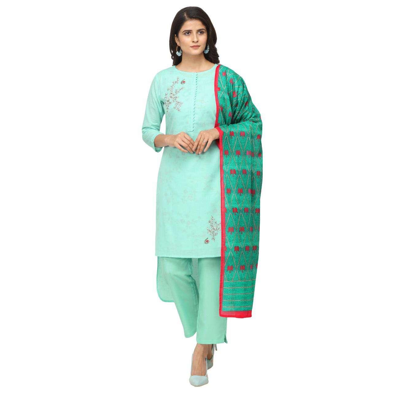 jansi present saanjh linen cotton readymade plazzo style suits