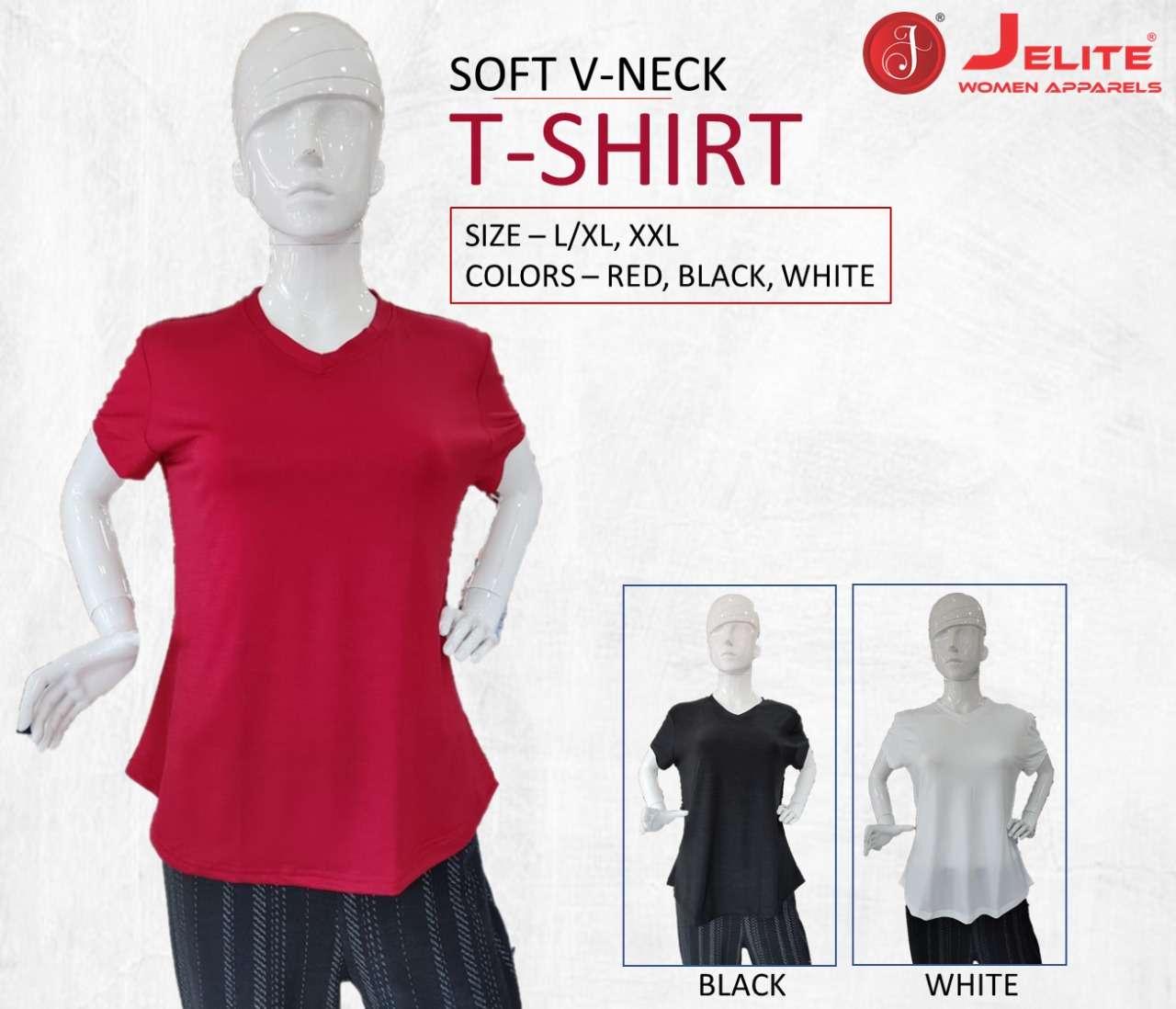 jelite ladies wear v neck tshirt - combo of 3 pcs