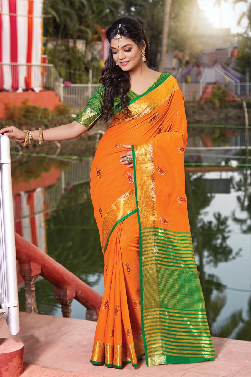 Jolly By Sangam Cotton Handloom Summer Special Saree