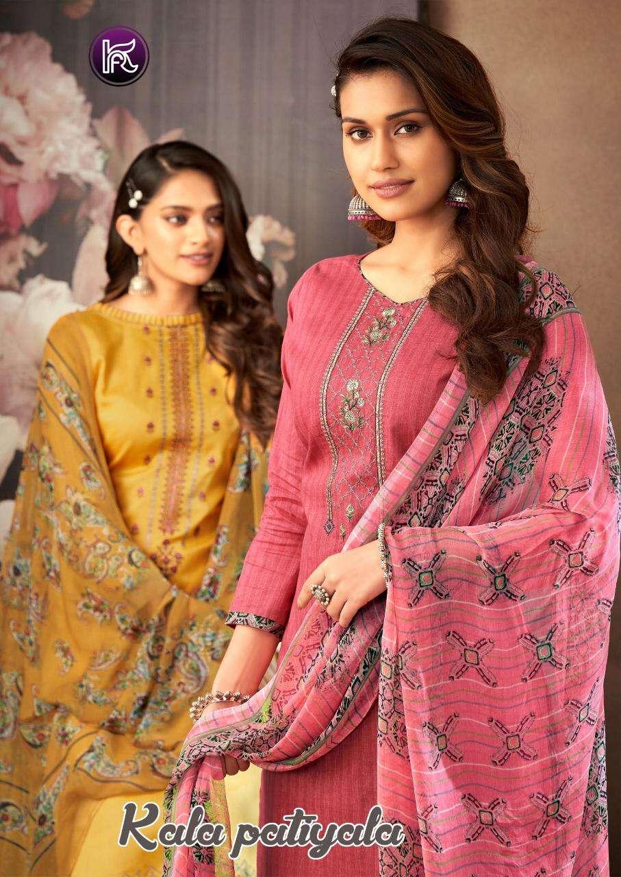 kala fashion patiyala designer cotton punjabi salwar kameez
