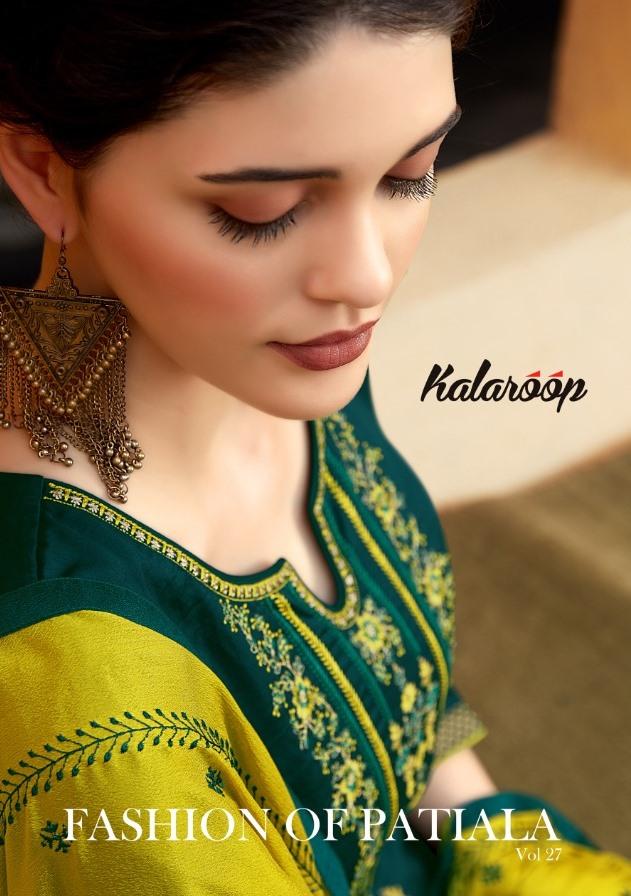 Kalaroop By Kajree Presents Fashion Of Patiyala Vol 27 Cotton Satin Readymade Salwar Suits