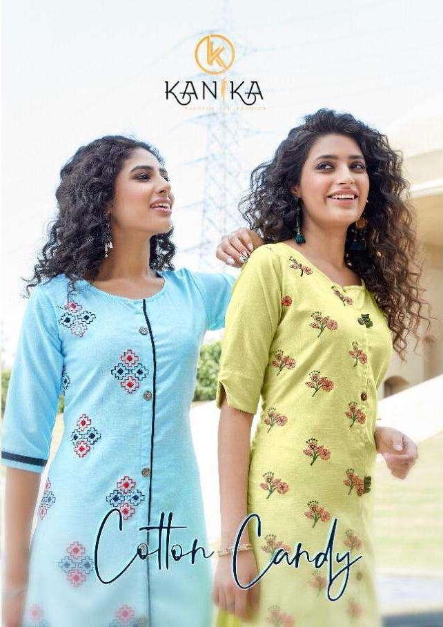 kanika cotton candy silk regular wear ladies kurtis