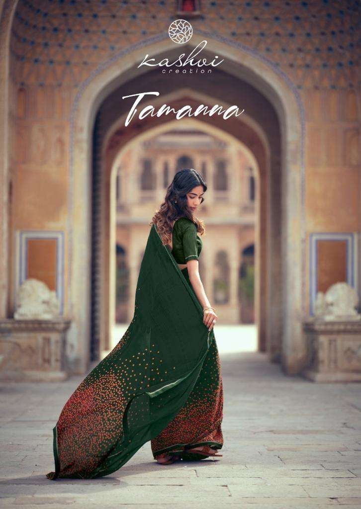 kashvi tamanna weightless printed casual wear sarees