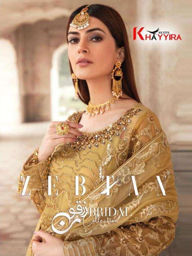 khayyira present zebtan georgette pakistani suits wholesaler