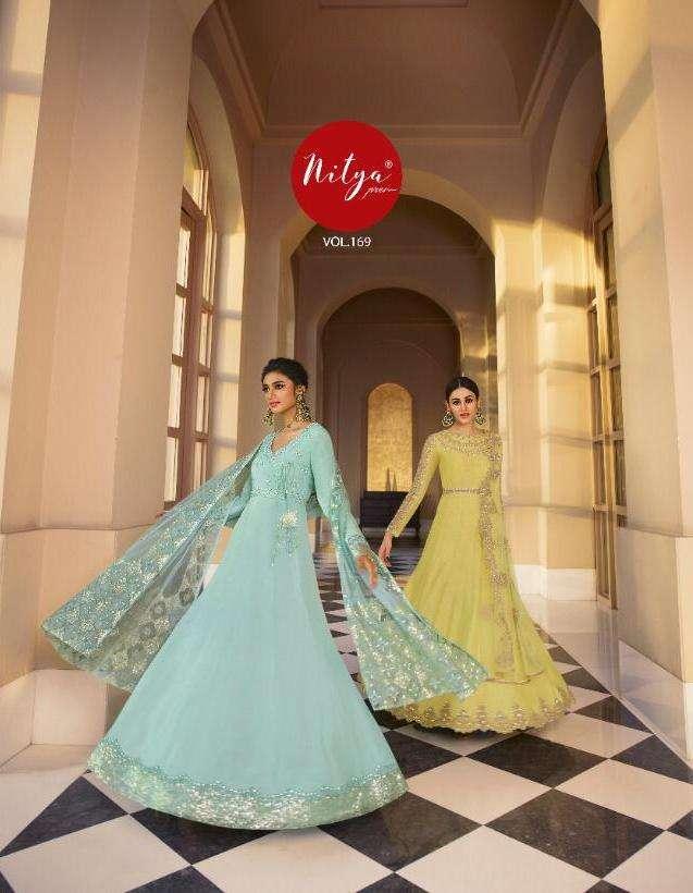 lt nitya vol 169 party wear bridal anarkali long salwar kameez