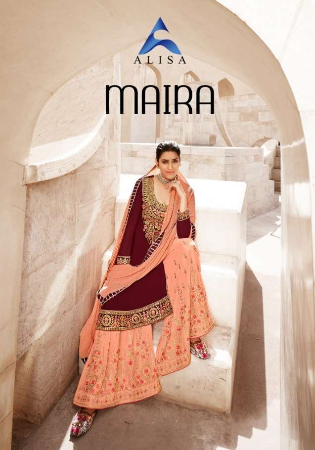 maira by alisa georgette long suit with sharara plazo collection