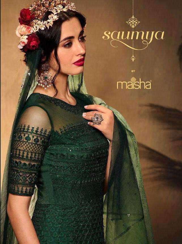 maisha saumya exclusive long wedding salwar kameez