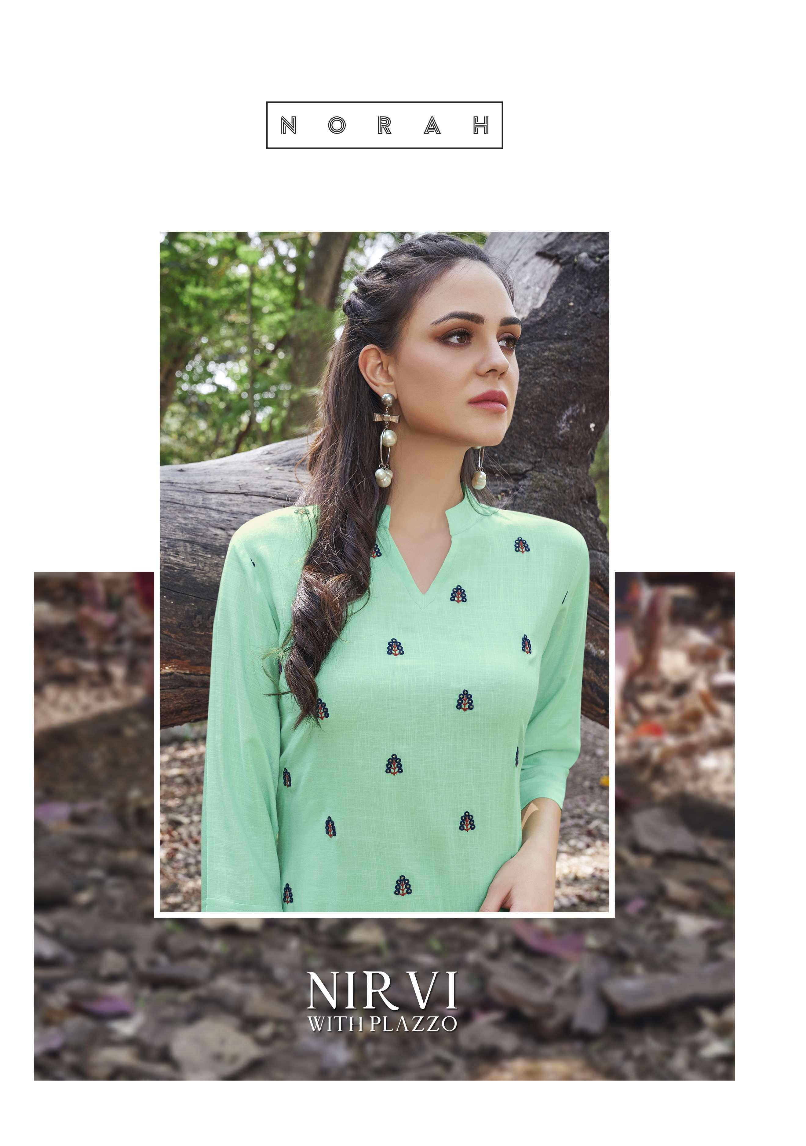 Neha Fashion Launch Nirvi Viscose Slub Kurti With Plazzo Wholesaler In Surat